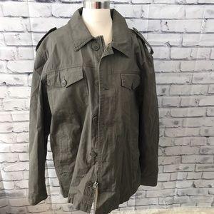 Levi's olive green military jacket